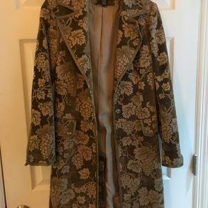 Arden B Gold Velvet Coat Size XS